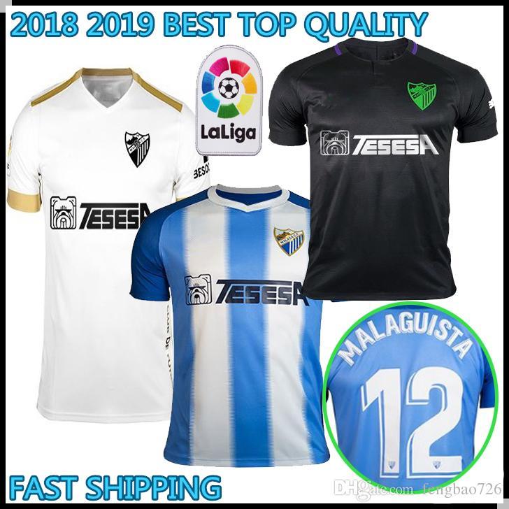 Compre 2018 2019 Top Quality MALAGA Camisolas De Futebol Em Casa 18 19  ONTIVEROS GONZALEZ N DIAYE ANOR JUANKAR Camisas De Jersey MALAGUISTA  Uniforme De ... 34b0ddf5ff764