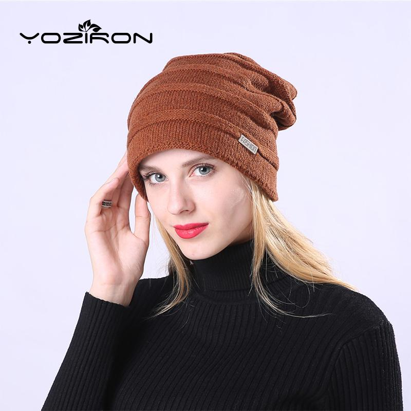 8e81d9942bb 2019 YOZIRON Women Men Winter Hat Wool Acrylic Adult Casual Solid Color  Velvet Thick Slouchy Beanies Caps For Female Male Skullies From Duriang