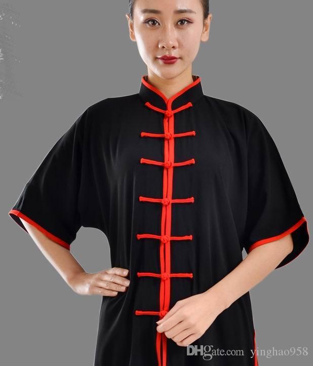 Tai Chi vêtements en coton à manches courtes ainsi que des exercices matinaux pour hommes et femmes dans la pratique de la pratique des arts martiaux @@ 19
