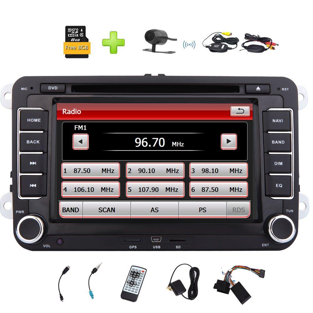 8gb Map Wireless Backup Camera Eincar 7 Car Radio For Vw Car Stereo