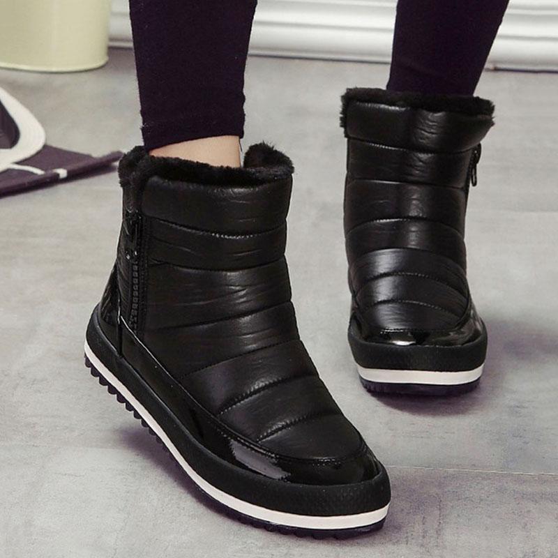 8dc3ece25 Compre Mulheres Botas Sapatos Quentes Mulher 2018 Inverno Botas Mujer Mulheres  Sapatos De Inverno Feminino Botas De Neve Tornozelo Calçado À Prova D  Água  ...