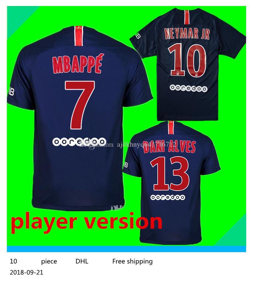 2019 18 19 Player Version PSG  10 NEYMAR JR Home Soccer Jersey 2019 Paris  Saint Germain Home Soccer Shirt  6 VERRATTI  7 MBAPPE Football Uniform From  ... 9307e426b