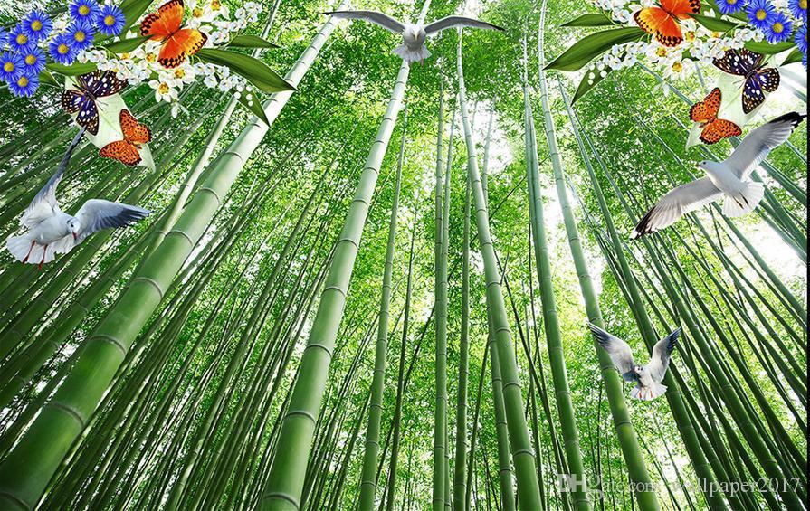 3d обои потолок потолок фреска потолок бамбуковые обои большие фрески обои домашний декор