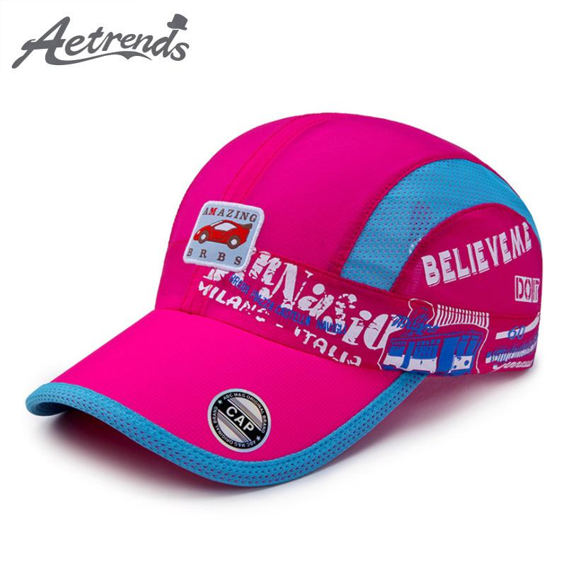 AETRENDS 2018 New Summer Kids Baseball Caps Quick Dry Thin Breathable  Snapback Bone Hats For Girls Boys Z 6512 Headwear Flat Caps From Huazu 650a4856f5ae