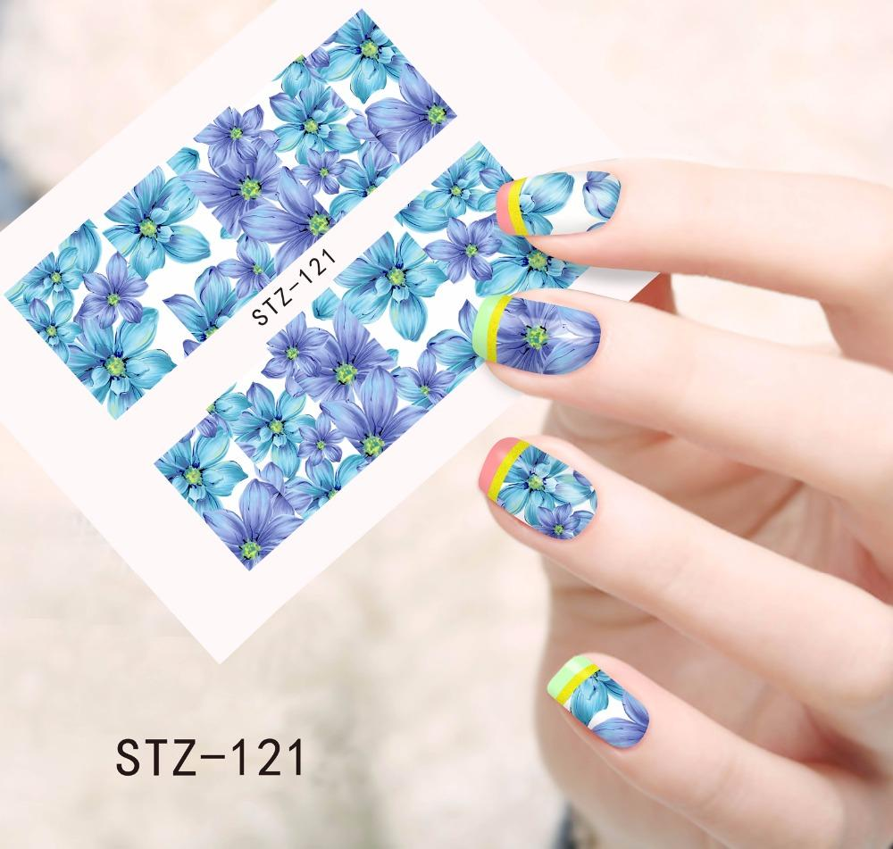 Wholesale 1sheets Fashion Beauty Flower 3d Designs Diy Tips Nail