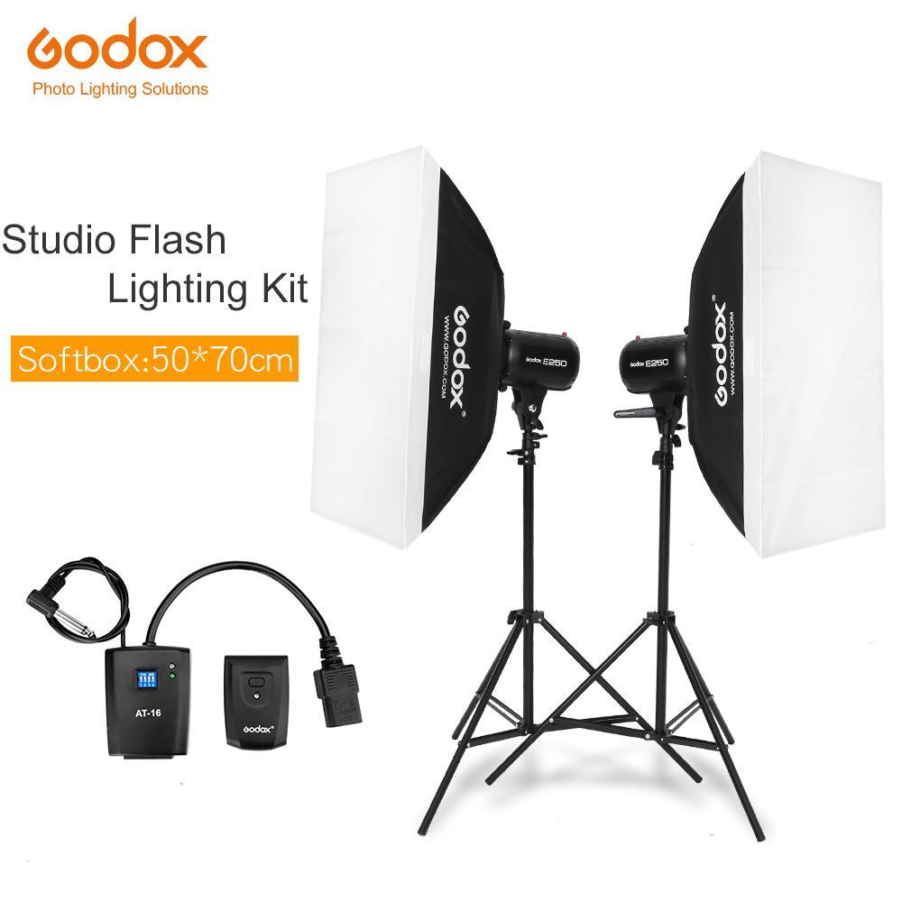lighting kit Godox Strobe Studio Flash Light Kit 500W - Photographic  Lighting - Strobes, Light Stands, Triggers, Soft Box