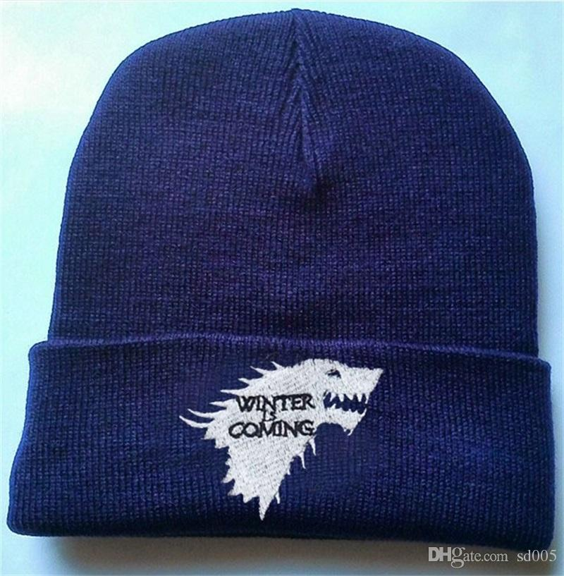 Winter Is Coming Wolves Knitted Hat Game Of Thrones Caps Men And Women  Woolen Hat Winter Autumn Beanie 5 8lm Gg Beanie Hats Beanie Hat From Sd005 e6ea1a7c4f2