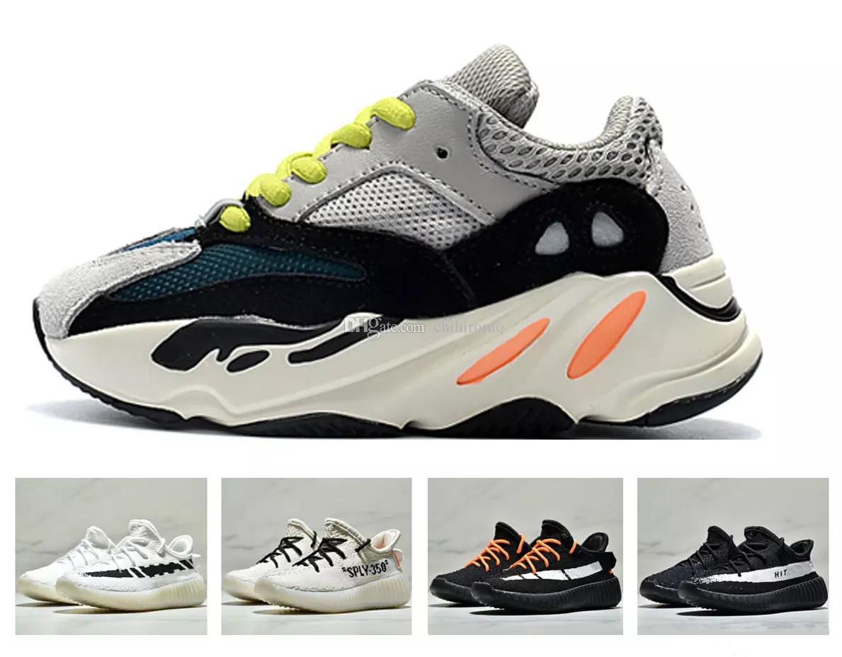 9bd1e1dc0dd6 2018 Kids Sneakers 350 V2 Kanye West Wave Runner 700 Running Shoes Children  700 Sports Toddler Shoes Casual Cheap Boys Sneakers Boys Sports Trainers  From ...