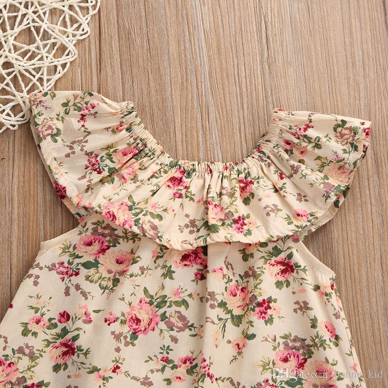 Лето девочка одежда цветок наряд топ+шорты 2-х частей набор бантом наряды детские повседневная одежда девушки прекрасный бутик костюм одежда