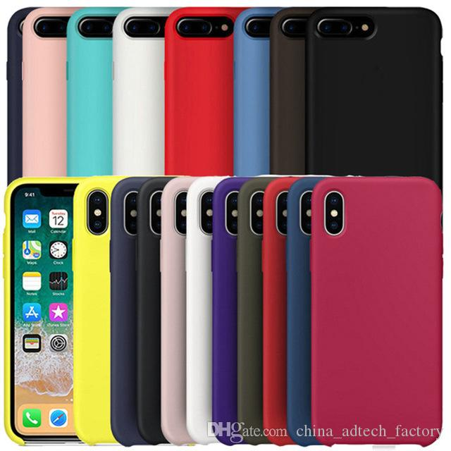 factory price 20350 a01a8 Official For Apple iPhone 7 Plus Liquid silicone Cover For iPhone X 6S 6  Plus 8 Plus original Silicone case with retail box