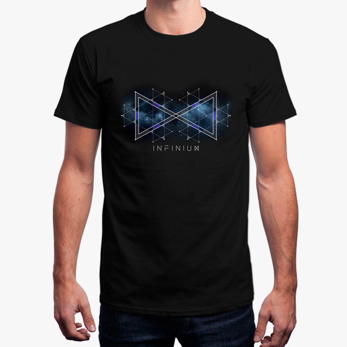 Top Quality Infinium Galaxy Print T Shirt Cool Cotton Tshirt Mens