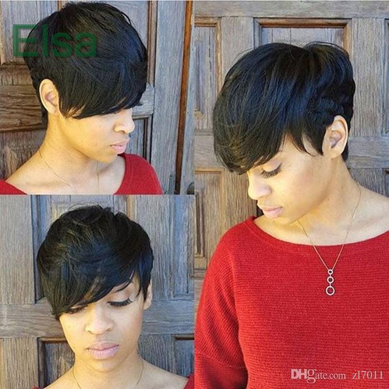 Fashion Popular Short Hairstyles Bob Silky Straight Hair Wigs 100