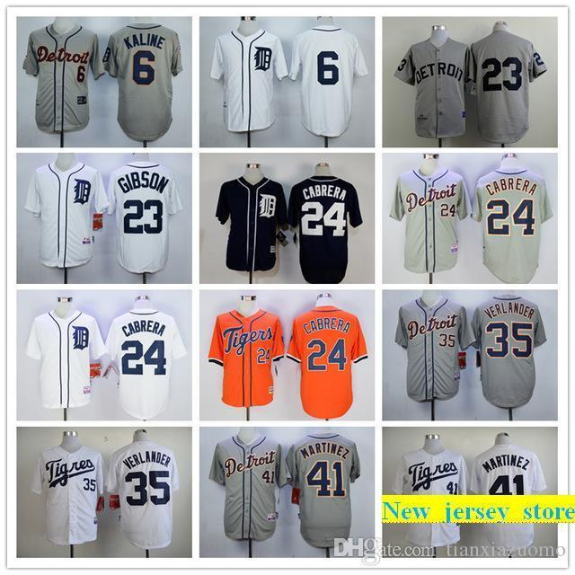 a1bedb40c94 2019 2019 Mens Tigers 6 Al Kaline 23 Kirk Gibson 35 Justin Verlander 100%  Stitched Baseball Jerseys Color White Gray Red Black Size S XXXL From ...