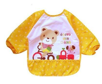 Wholesale- 2018 Lovely Infant Waterproof Bib Apron Cute Apron Clothing Lunch Practical Baby I Love Mama/Papa Print Bib For Baby