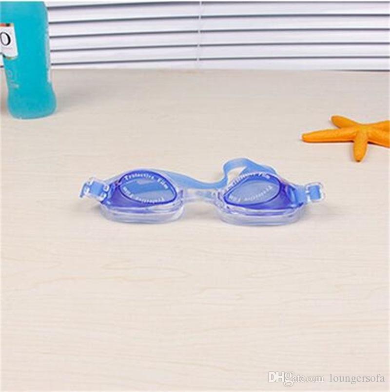 Occhiali da nuoto Antifog Occhiali da nuoto Occhiali da immersione bambini Occhiali regolabili in silicone colorati bambini Bardian Large Frame 3 4dh Y