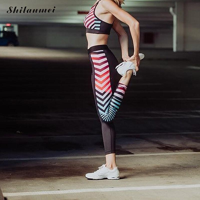 45e9274a8 2019 Yoga Legging Pants Sport Tights Running Women GYM Fitness High Elastic Pants  High Waist Female Slim Workout 2018 Mesh Running From Mssweet