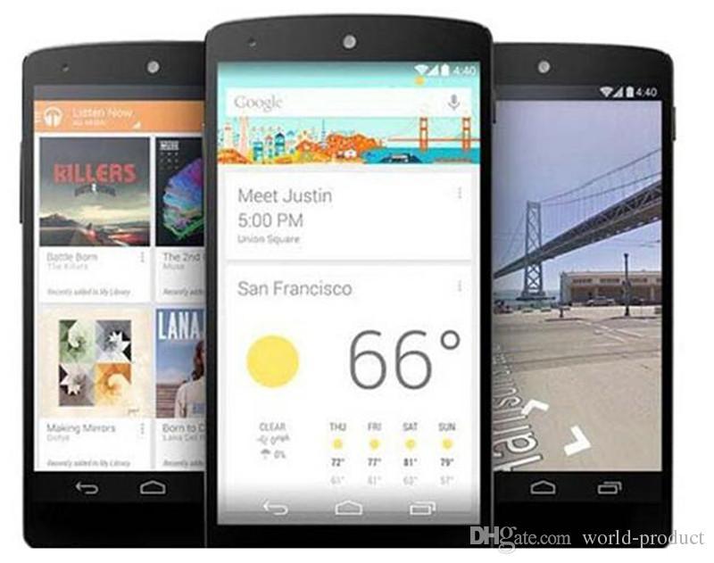تم تجديده جوجل LG Nexus 5 في D820 D821 رباعية النواة 2GB 32GB 4.95