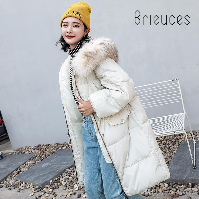 0d7b91c1b72 Brieuces New Coats & Jackets 2018 Parka Hooded Winter Jacket Women  Artificial Fur Collar Winter Coat Women Zipper Women'S Jacket Warm Coat  Womens Leather ...