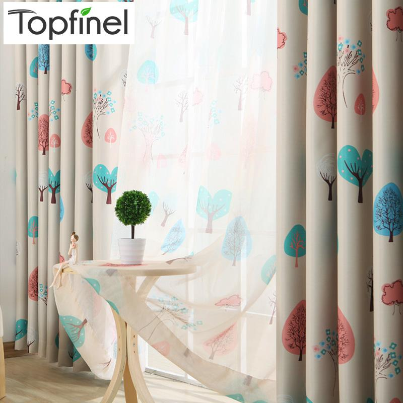 Top Finel Kids Curtains For Living Room Bedroom Tree Pattern Design Window Curtains  Baby Room Lovely Children Drapes UK 2019 From Jiguan, ...