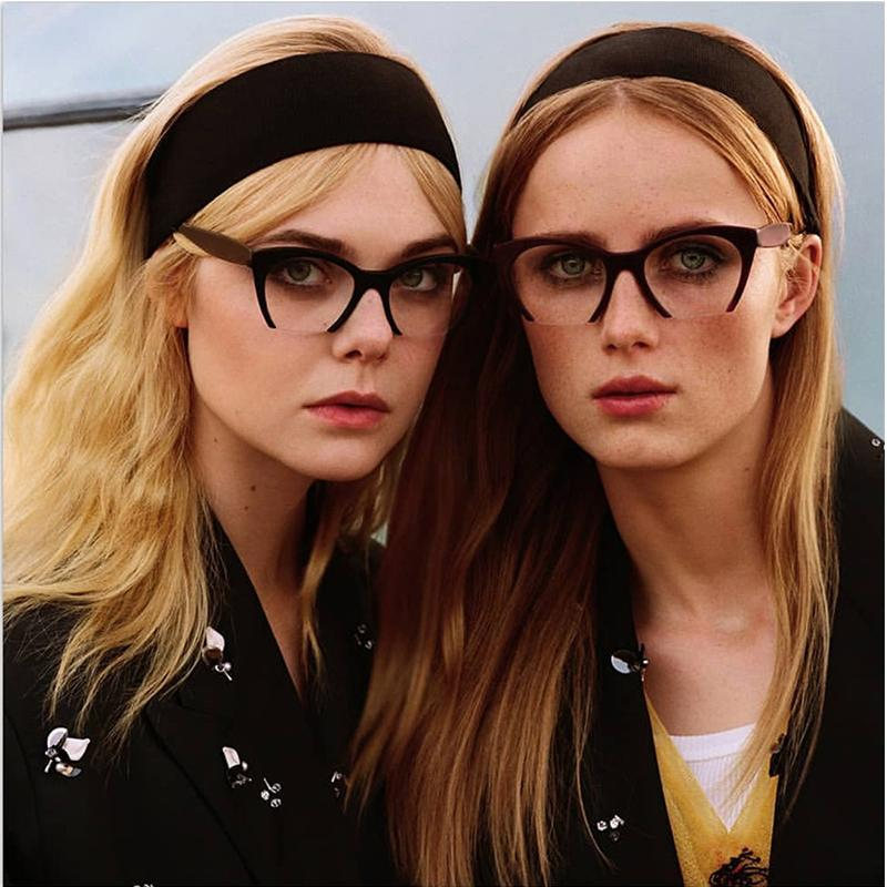 bec2db4381 2019 ROYAL GIRL New Fashion Cat Eye Eyewear Frame Optical Women Vintage  Half Frame Eyeglasses Female Clear Lens Glasses Os027 From Johnnychan1988