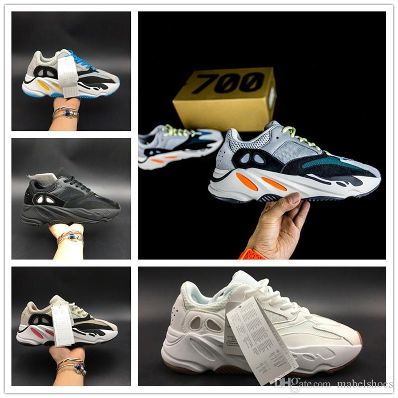 4876b66e6656 2018 New Kanye West 700 Classic Running Shoes Mens 700 Wave Runner ...