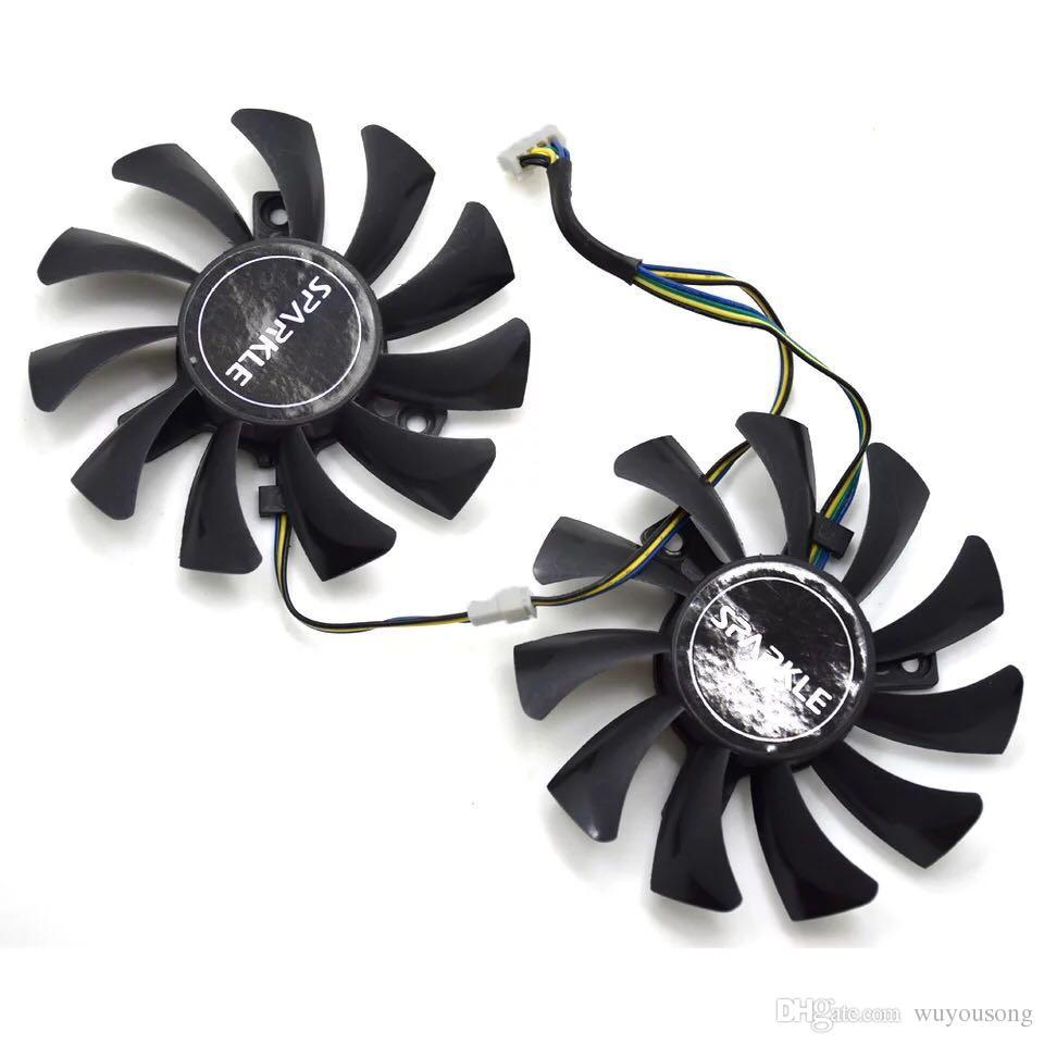 New Original EVEA Onda graphics card cooling fan APISTEK GA81S2U DC 12V 0.38A diameter 75mm Pitch 40MM cooler fan