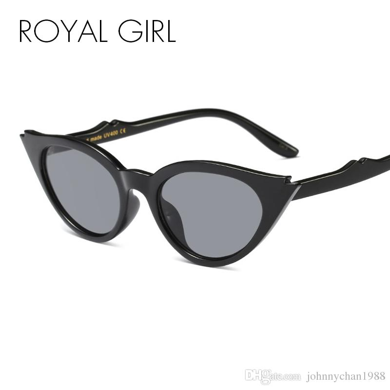 6e87ff153f ROYAL GIRL Cute Sexy Retro Cat Eye Sunglasses Women Vintage Small Black  Triangle Frame Grey Lens Female Glasses Oculos Ss629 Oversized Sunglasses  Best ...