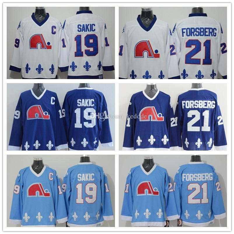 d260ca1c44a ... youth nhl jersey 995ad c4213; czech 201718 mens quebec nordiques jersey  21 peter forsberg 19 joe sakic navy blue white blue