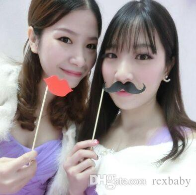 Paper beard photo props 2018 new hot wedding wedding supplies birthday party party selfies small props wholesale