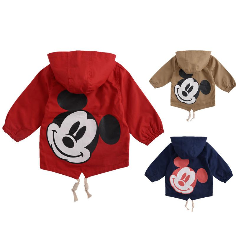 86e8c2a2d42f Angeltree Spring Boys Girls Jackets For Children Hooded Cute ...