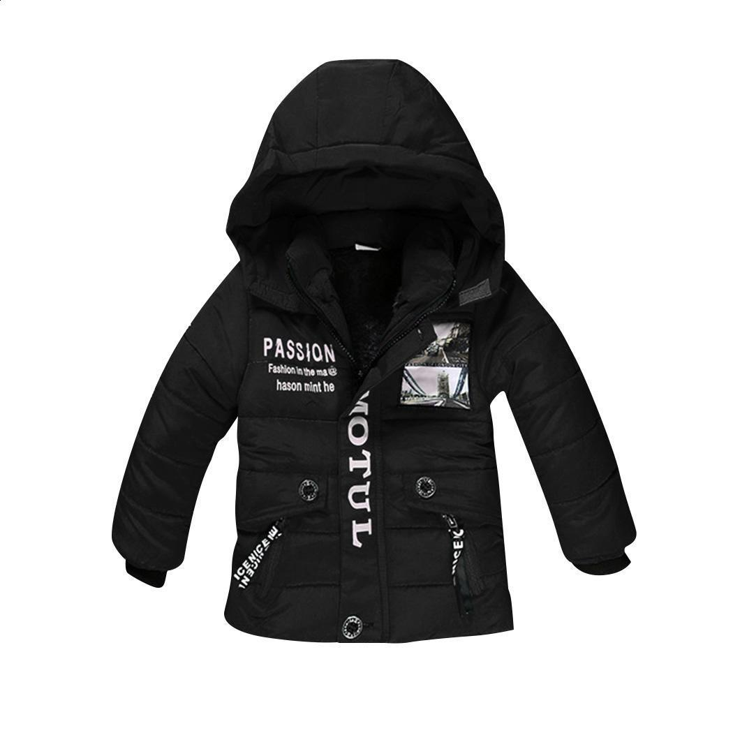 916b83e4a Coat Winter Down Jacket Lining Print Letter Cotton Zipper Baby Warm ...