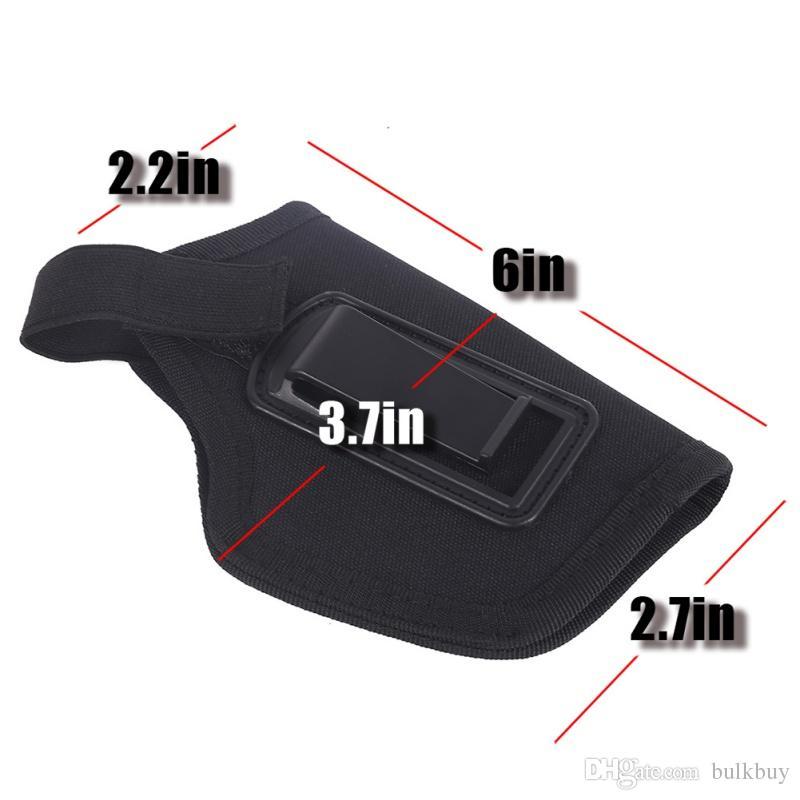 es Caza al aire libre Deportes Nylon Táctico Todas las pistolas subcompactas compactas Cintura Cinturón oculto Estuche