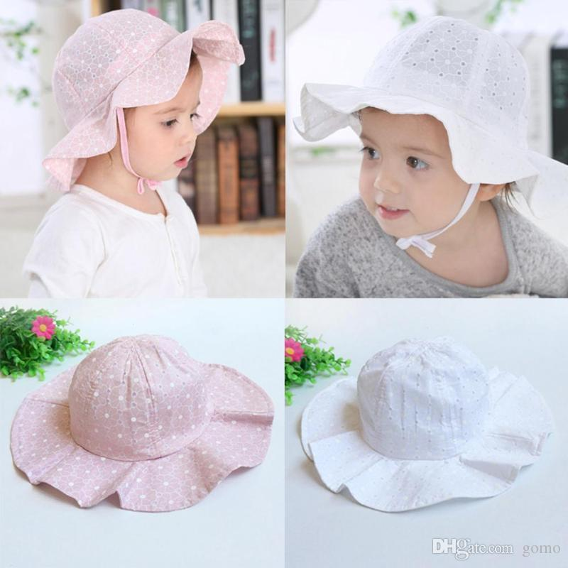 2019 Baby Sun Cap Toddler Infant Kids Soft Cotton Summer Hat Outdoor Basin Cap  Cute Casual Newborn Soft Beach Hat For Boys Girls From Gomo faecf6c98e98