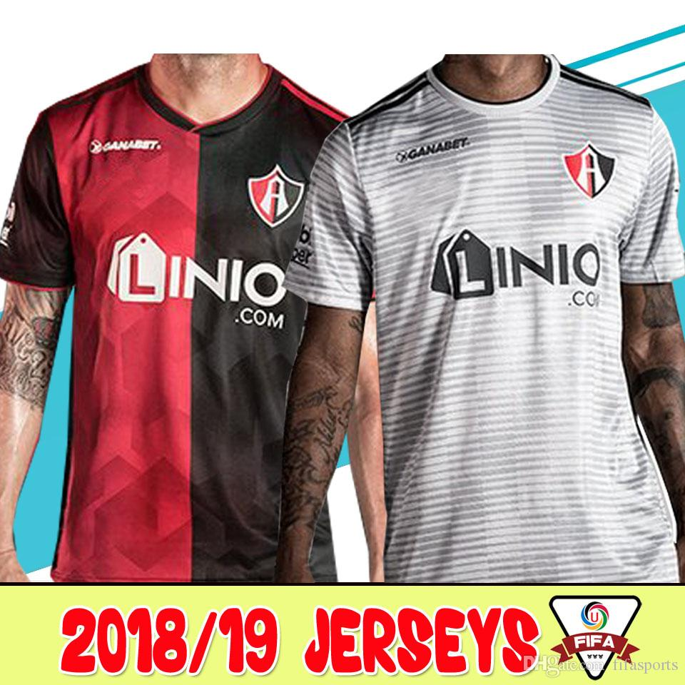 2ef14e2b2 2018 19 Mexico Club Atlas FC Soccer Jersey 2018 Home Red Black Away White  18 19 LEON NECAXA Queretaro Football Shirts