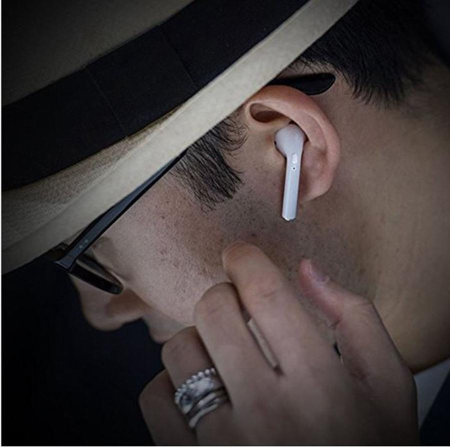 i7 Twins TWS Auriculares Inalámbricos Bluetooth Auriculares Invisibles Auriculares de Música Estéreo V4.2 Auricular Del Teléfono Para Iphone X Con Paquete Al Por Menor