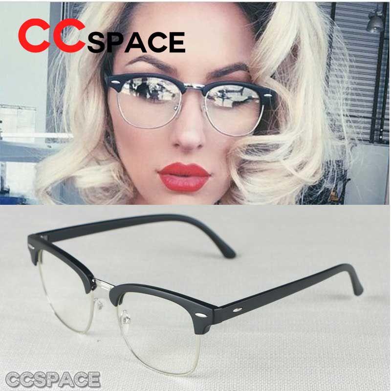e9fa3374e93 Vintage Metal Clear Lens Glasses Eyewear Frames Semi Rimless Metal Optical  Clear Glasses Frame Spectacle Women Men Eyeglasses Canada 2019 From  Wonderline2