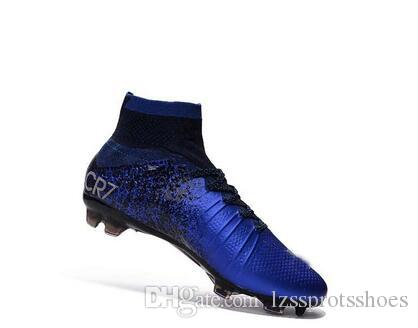 2b8e1e9dc 2019 2017 CR7 Soccer Cleats Mercurial Superfly V FG Kids Soccer Shoes Youth  Soccer Boots Cristiano Ronaldo Children Women Football Boots 35 45 From ...