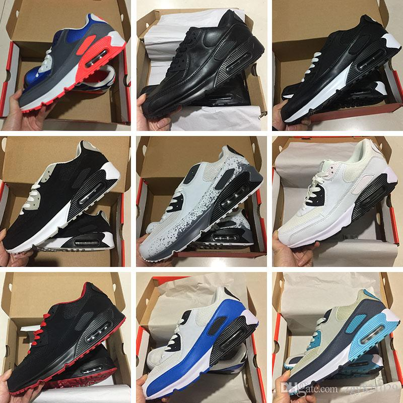 0c2c6871 Compre Zapatillas De Deporte Para Hombre Zapatos Clásicos Nike Air Max 90  Ultra Hombres Y Mujeres Zapatillas De Running Negro Rojo Blanco Zapatillas  De ...