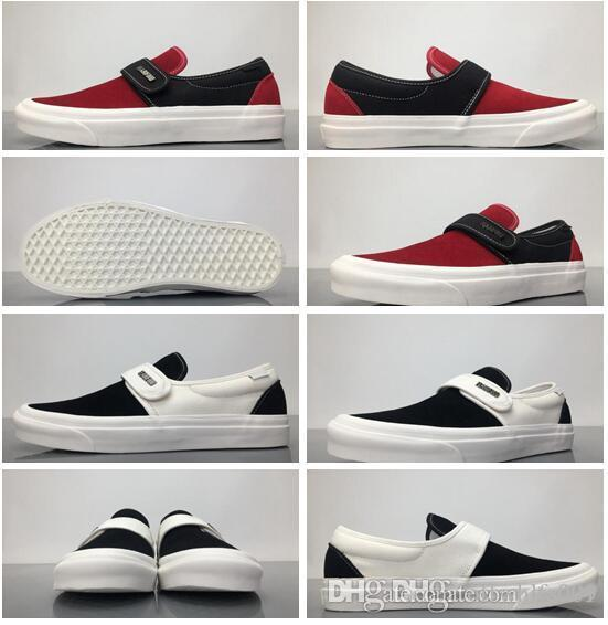e50c205a73 Compre Jerry Lorenzo Miedo A Dios X Estilo 147 Slip On Collaboration Blanco  Negro Zapatos Para Hombre Talla Us7 12 Venta Al Por Mayor Envío De La Gota  A ...