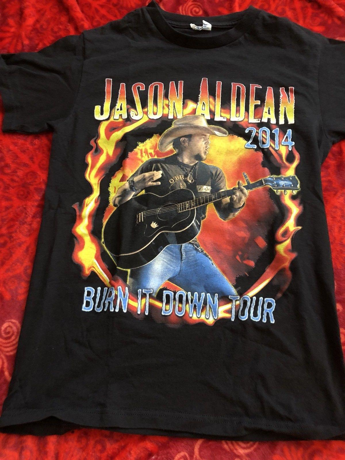 c6c2898abf BURN IT DOWN 2014 TOUR SHIRT BLACK S SMALL 2 SIDED DELTA PRO WEIGHT Cotton  Shirts Cheap Wholesale