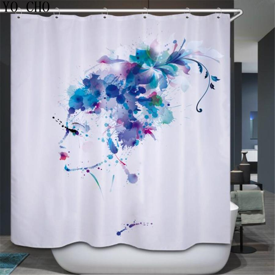 2019 YO CHO 3D Oil Painting Sexy Pattern Shower Curtain Unique Classic Waterproof Fabric Custom Bath Curtains Rideau De Douche From Hariold
