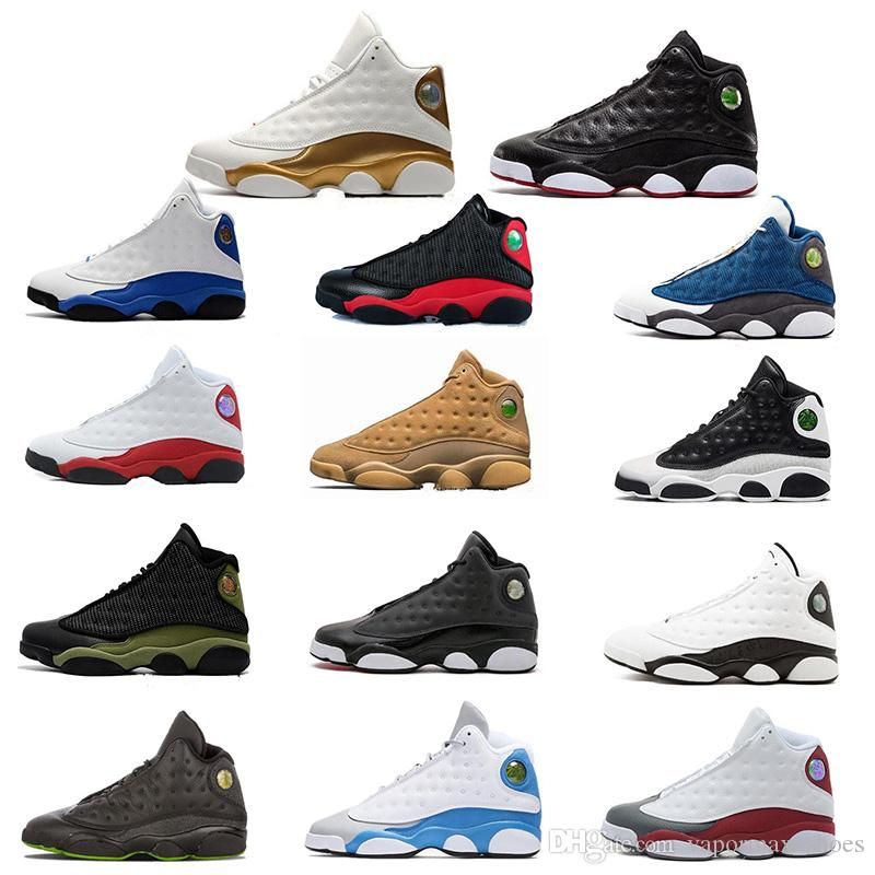 cb69890b69f0 Basketball Shoes 13 13s Sneakers Trainers Running Chicago 3M GS Hyper Royal  Bordeaux DMP Wheat Olive Ivory Lack Men Sports Shoes Size 8 13 Loafers For  Men ...