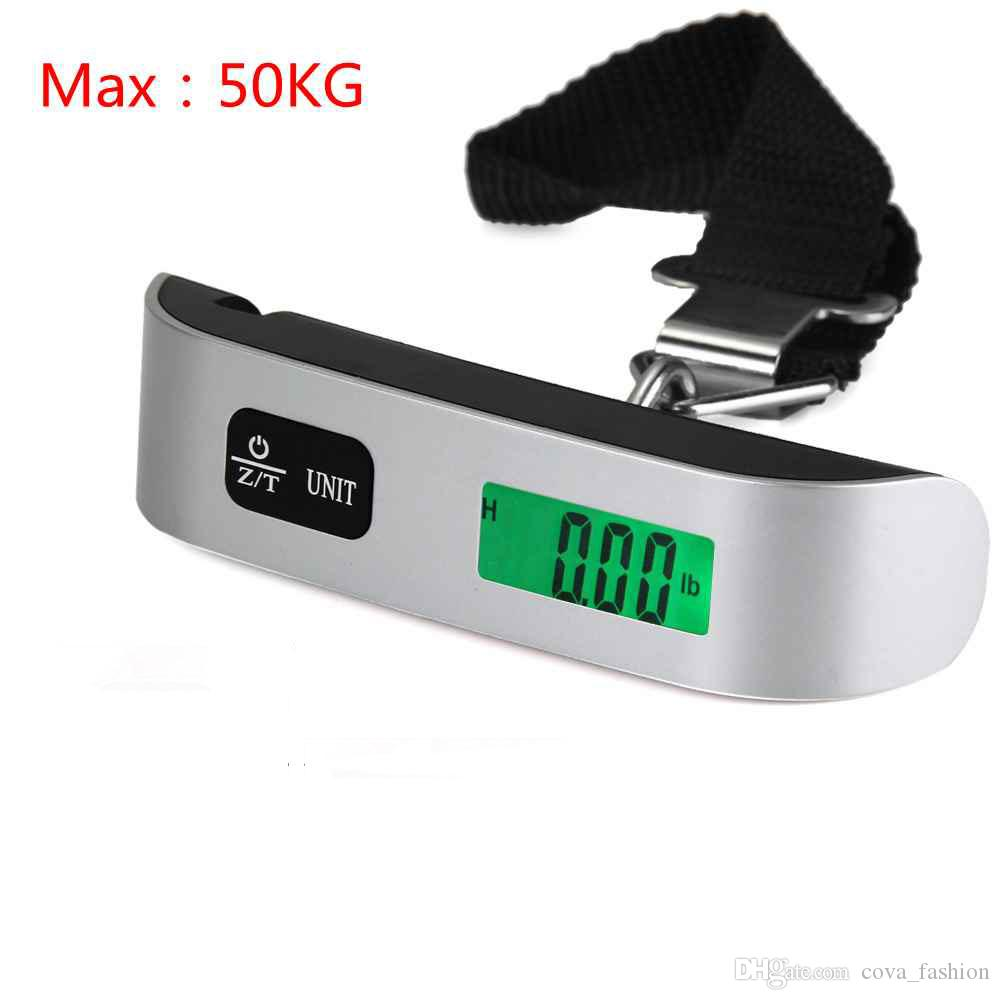 30e9ccb65c16 Mini Digital Luggage Scale Hand Held LCD Electronic Scale Electronic  Hanging Scale Thermometer 50kg Capacity Weighing Device