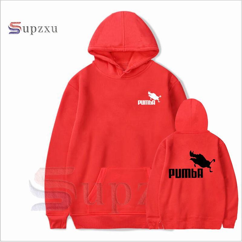 Compre 2018 Engraçado Bonito Hoodies Homens Mulheres Pumba Moletom Com Capuz  Moda Casual Streetwear Legal Lindo Traje Hoodies Homens De Elizabethy 51e398af455