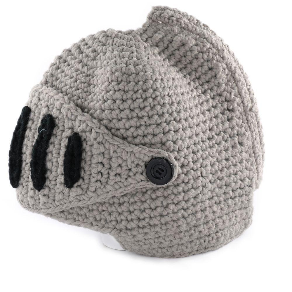 389d36d2fb2 2019 New Fashion Womens Men Crochet Knitted Winter Warm Winter Man Hat  Beanie Wool Roman Knight Helmet Hat Cap From Shinny33