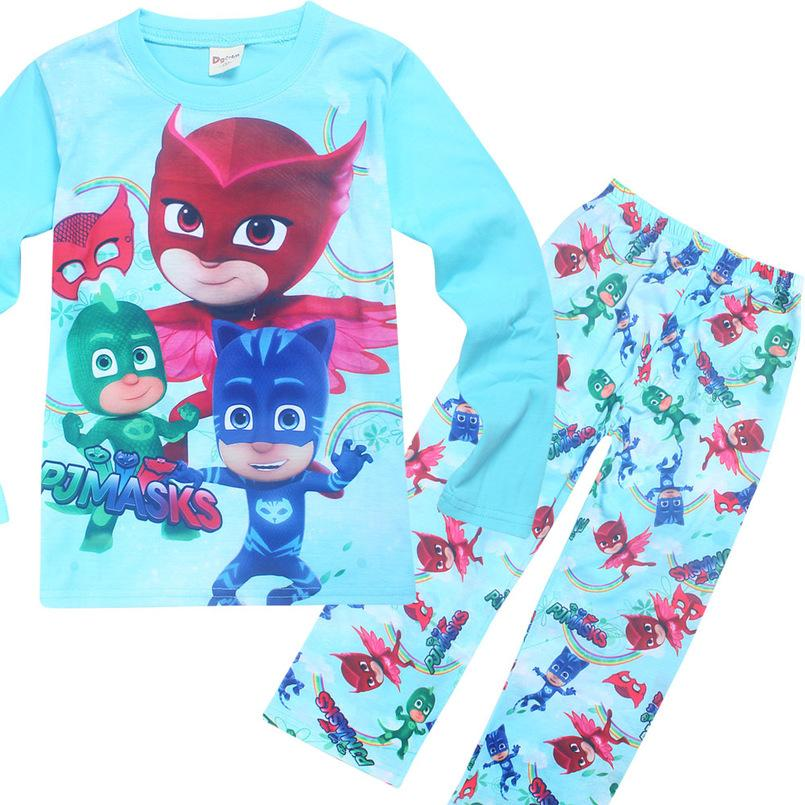 379717bc5 Boy Clothes Fashion Children s Pajamas Long Sleeve T Shirts + Pants ...
