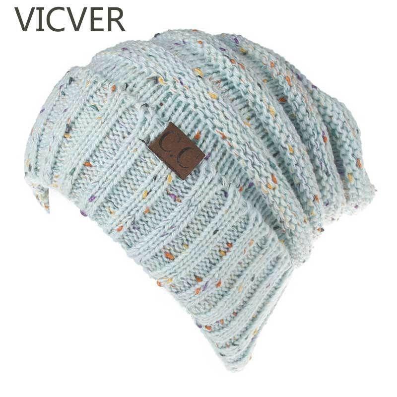 8a5fb65d5beb01 New Woolen Hats CC Beanies Knitted Cap Women Men Skullies Winter ...