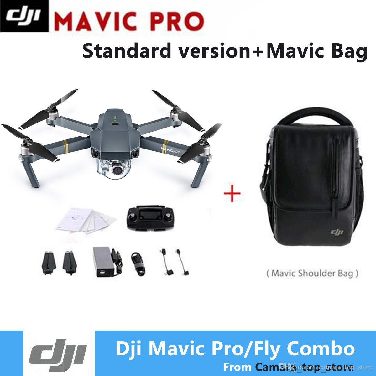 Best Quality Dji Mavic Pro Fly More Combo Quadcopter 4k Hd Camera 3 Axis Gimbal 7 Km Recording Remote Control 12 Channels Cameria Drones At Cheap Price