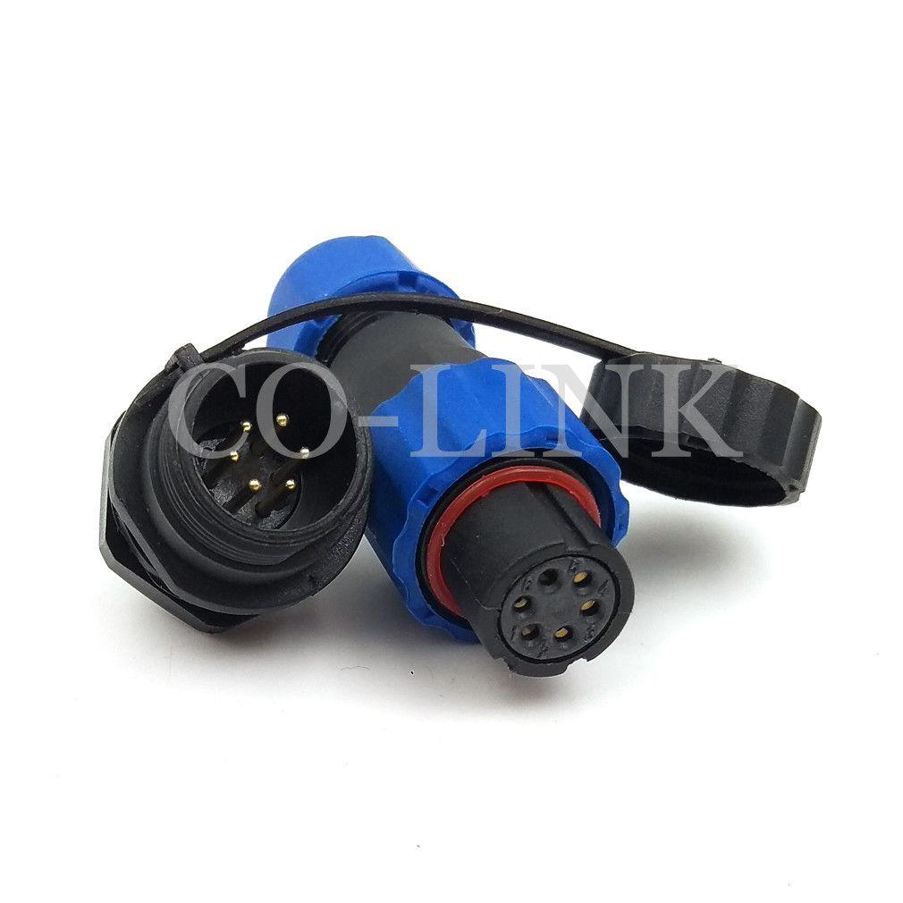 Sd13 6pin Waterproof Power Connector Ip68 Power Plug Socket 5a