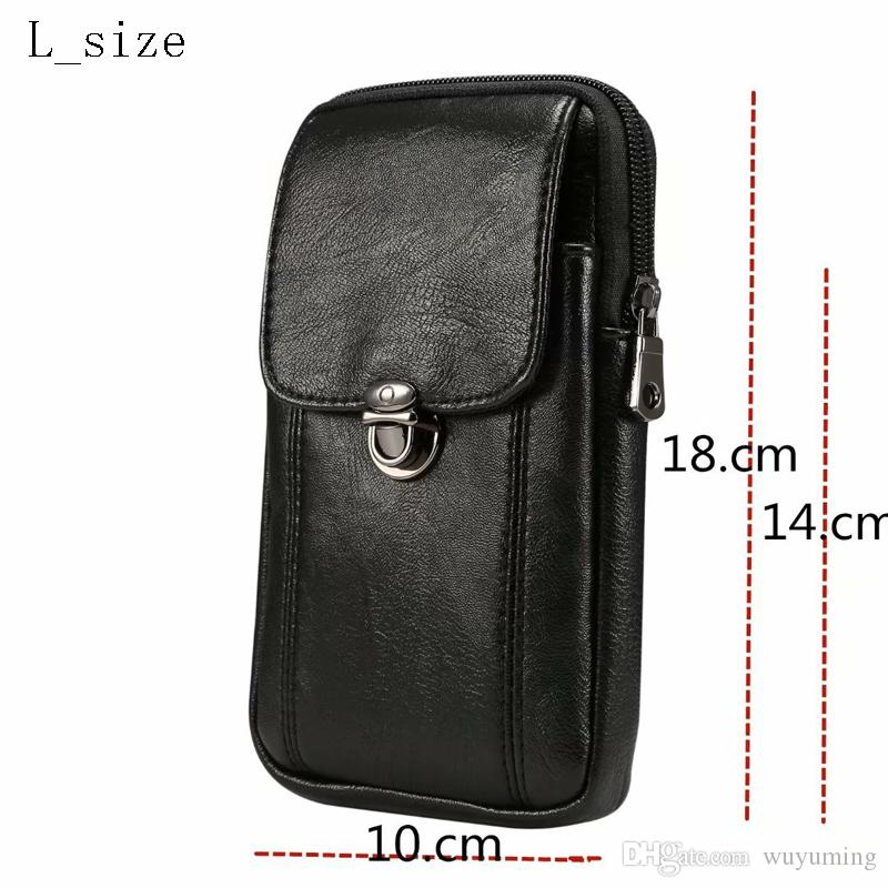 2995aa7df6 Universal PU Leather Cell Phone Bag Shoulder Pocket Wallet Pouch ...